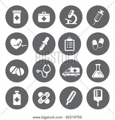 Set Of Vector Medical Icons In Flat Style