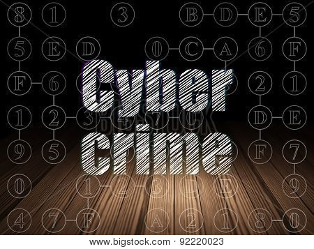 Privacy concept: Cyber Crime in grunge dark room