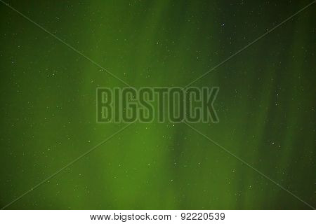 Northern Lights With Bright Stars In Iceland
