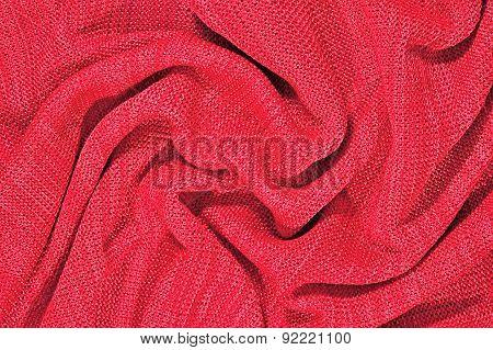 Pink Crumpled Stockinet Background