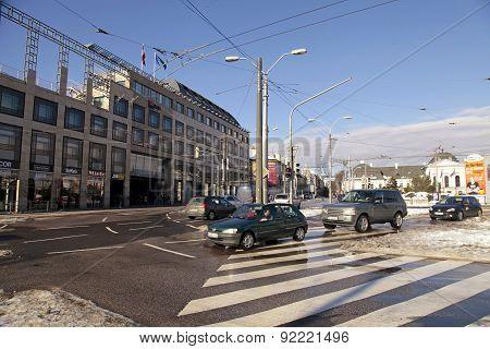 Street In Bratislava, Slovakia.