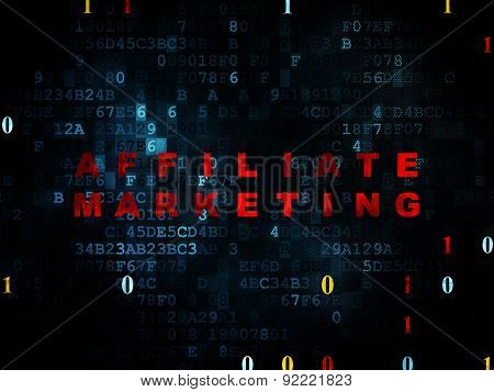 Business concept: Affiliate Marketing on Digital background