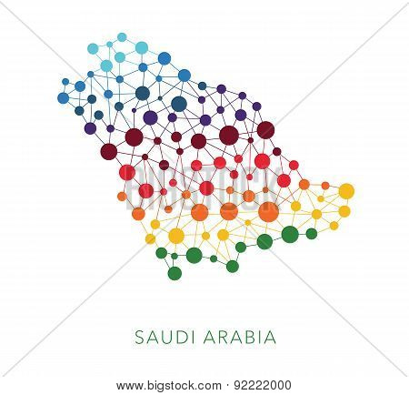 dotted texture Saudi Arabia vector background