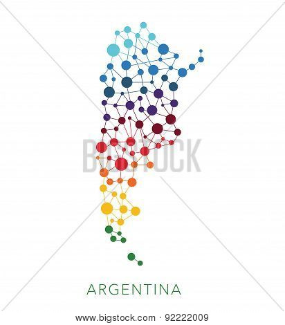 dotted texture Argentina vector background