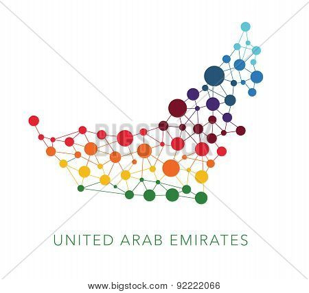 dotted texture United Arab Emirates vector background
