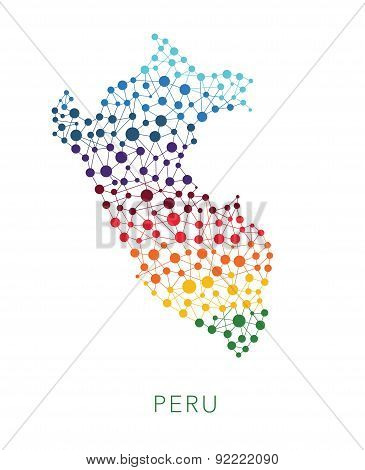 dotted texture Peru vector background