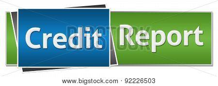 Credit Report Green Blue