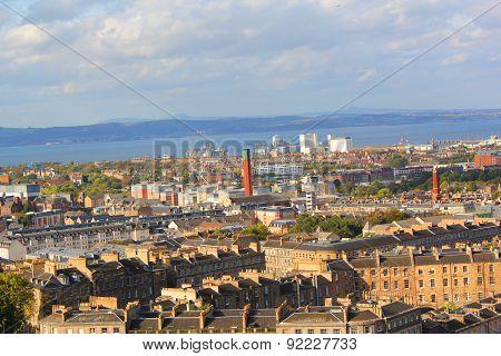 View From The Calton Hill In Edinburgh