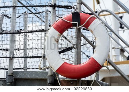 Lifebuoy On A Ship