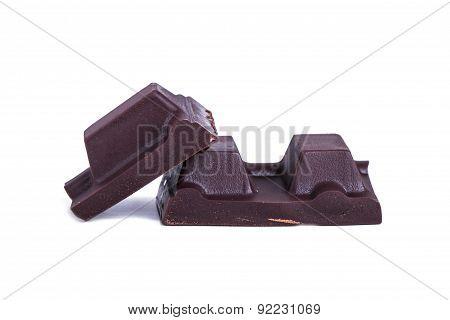 Black Milk Chocolate Bar Pieces