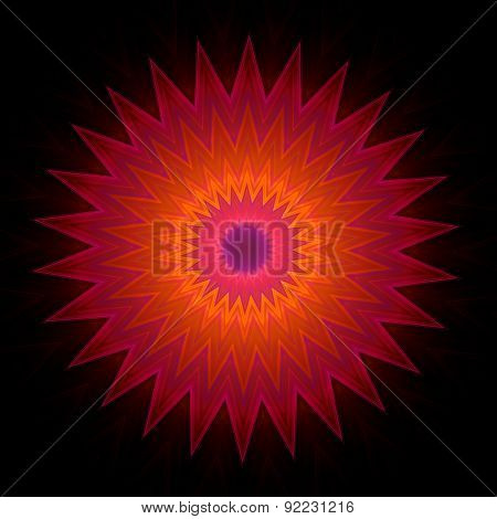 Geometric Decorative Ornament in Star Shape