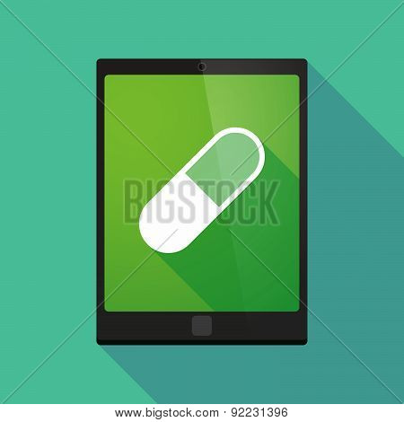 Tablet Pc Icon With A Pill