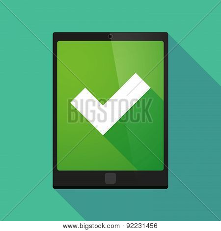 Tablet Pc Icon With A Check Mark