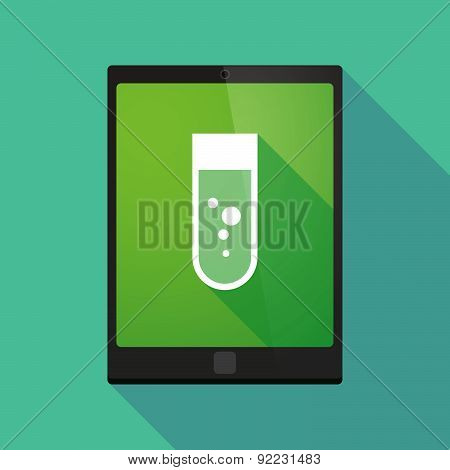 Tablet Pc Icon With A Chemical Test Tube