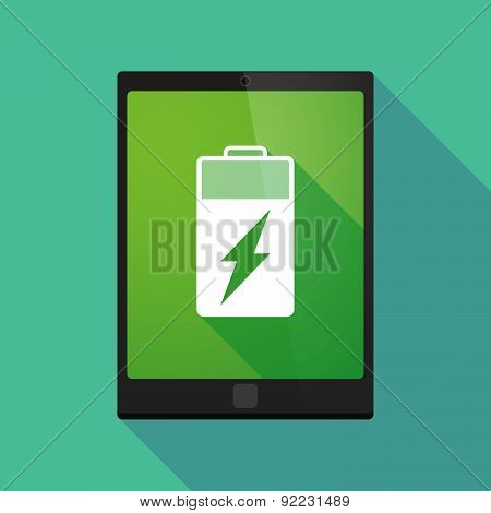 Tablet Pc Icon With A Battery