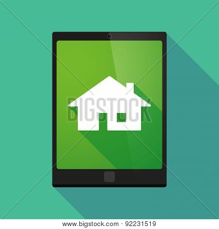 Tablet Pc Icon With A House