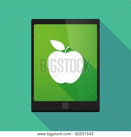 Tablet Pc Icon With A Fruit