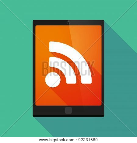 Tablet Pc Icon With A Rss Sign
