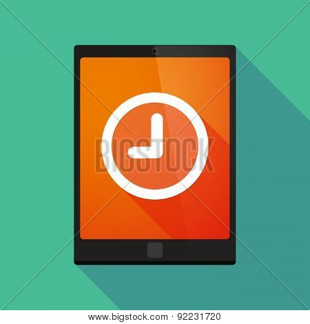 Tablet Pc Icon With A Clock