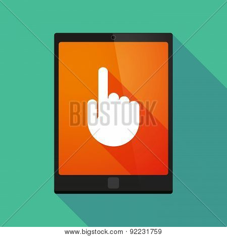 Tablet Pc Icon With A Pointing Hand