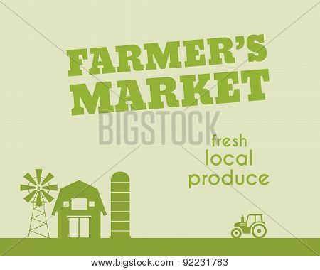 Eco and organic background. Farmer s market poster and banner design. For organic products, shop, we