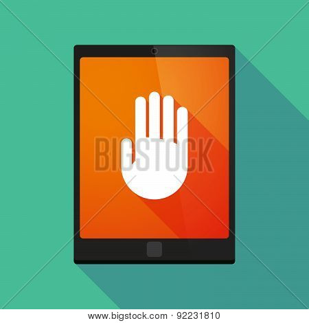 Tablet Pc Icon With A Hand