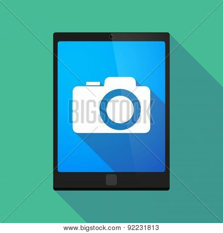 Tablet Pc Icon With A Camera