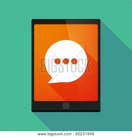 Tablet Pc Icon With A Comic Balloon