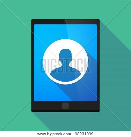 Tablet Pc Icon With A Male Avatar