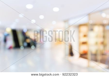 Defocused of shopping mall background