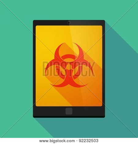 Tablet Pc Icon With A Biohazard Sign