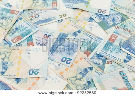 Background of Hong Kong twenty dollar bills