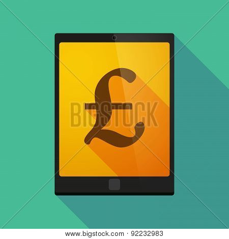 Tablet Pc Icon With A Pound Sign
