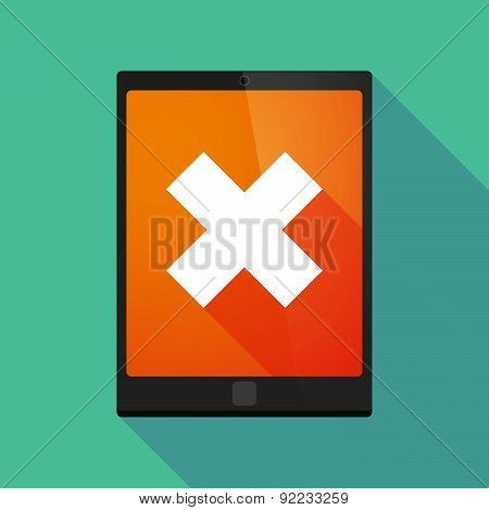 Tablet Pc Icon With An X Sign