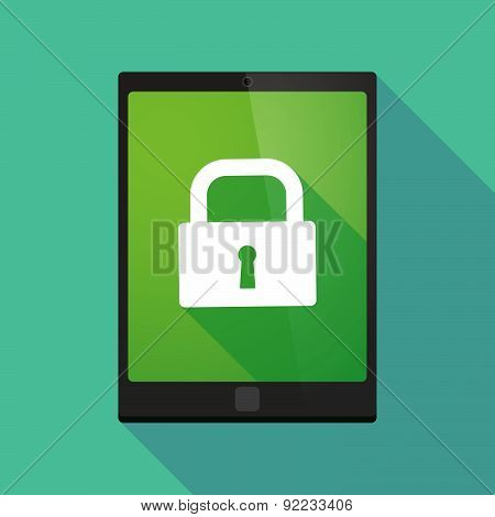 Tablet Pc Icon With A Lock Pad