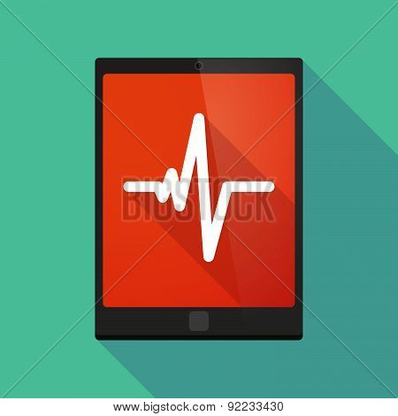 Tablet Pc Icon With A Heart Beat Sign