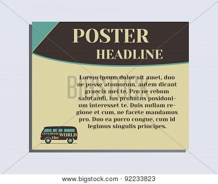 Travel and Camping Poster design Layout template. Rv park and campground. Triangle abstract style. R