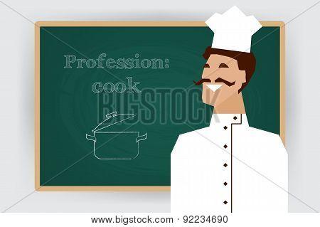 Occupation cook profession. Vector illustration.