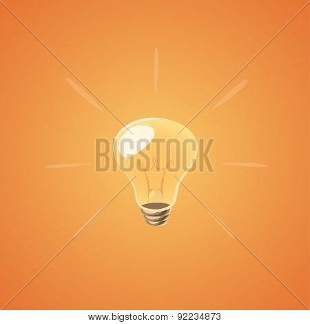 Brilliant idea bulb. Isolated object \ background.