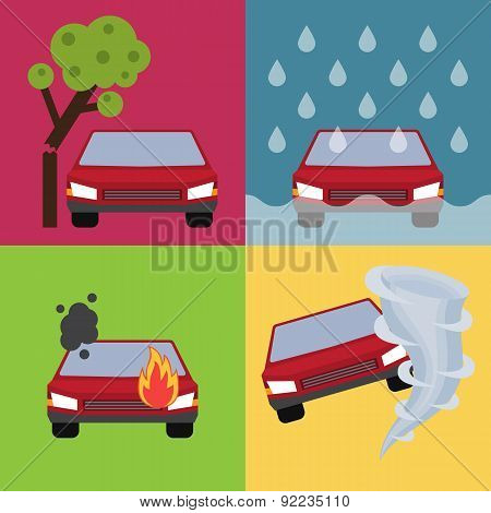 Auto insurance vector illustration