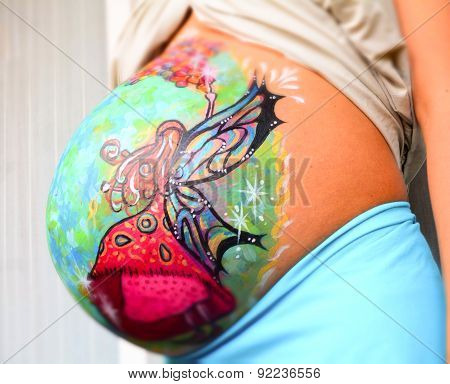 Colorful Belly Painting