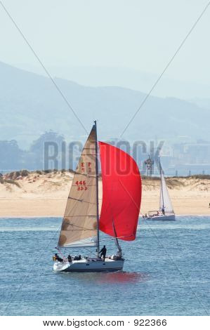 Boat With Red Flag