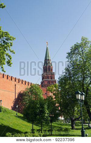 Borovitskaya Tower of Moscow Kremlin