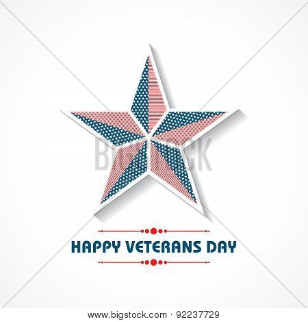 Creative veterans Day Greeting stock vector