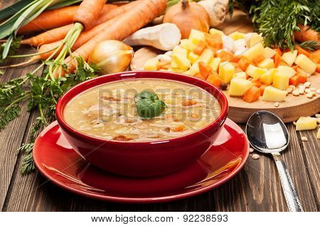 Pea Soup With Bacon And Sausage