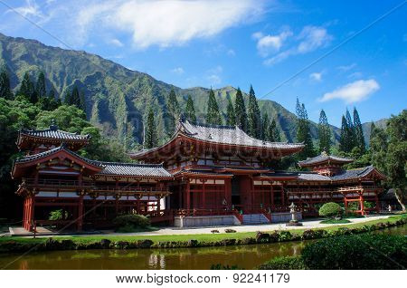Byodo-In temple in Oahu, Hawaii