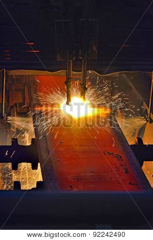 Fire Gas Cutting Steel Plate