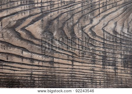 Old wooden background, the texture of ash