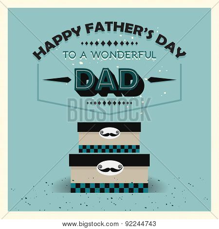 Happy Father's Day vintage card