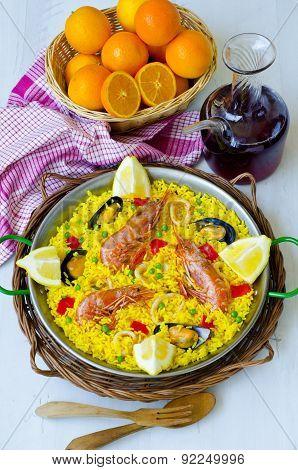 Spanish Cuisine. Paella.